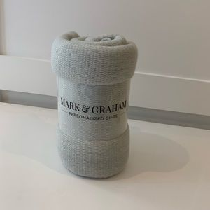 Mark graham grey blanket 50 x 60 new